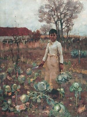 Painting James Guthrie A Hind's Daughter 1883 Canvas Art Print