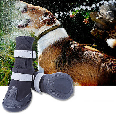 4Pcs Non-Slip Pet Dog Cat Shoes Boots Winter Waterproof Socks Soft Cotton Padded