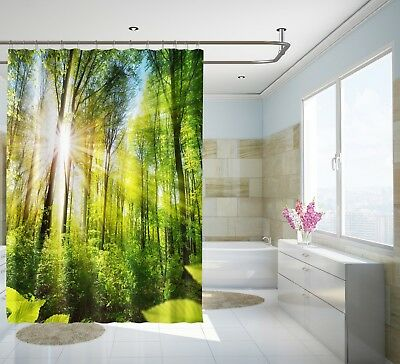 Home & Garden 3d Sun Snow Woods 7 Shower Curtain Waterproof Fiber Bathroom Home Windows Toilet