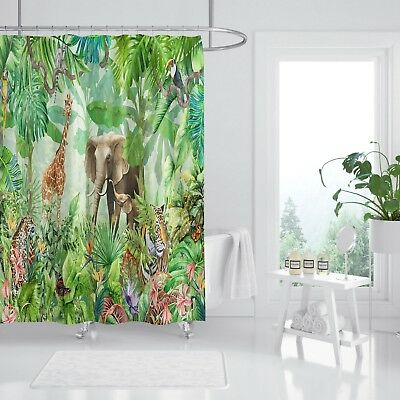 Home & Garden Window Treatments & Hardware 3d Dark Green Tree 8 Shower Curtain Waterproof Fiber Bathroom Windows Toilet