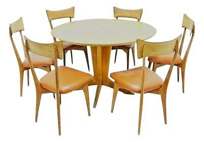 table + 6 chairs design ico and luisa parisi production colombo published