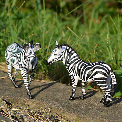 PVC Zebra Toy Figurine Educational Realistic Plastic Wild Animal Figure for Kids