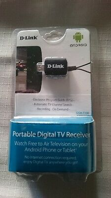 D-Link Portable Digital TV Receiver DSM-T100 (New) for Android w/ Micro USB