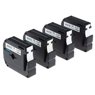 4PK M-K231 Compatible for Brother Black on White P-touch 12mm Label Tape MK231