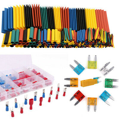 Car Wire Electrical Terminals Crimp Connectors Heat Shrink Tube Auto Blade Fuses