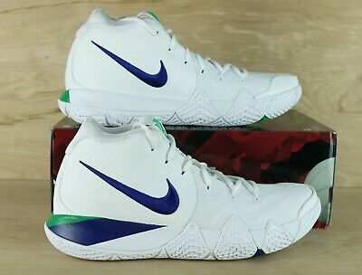 size 40 0e392 7c6a7 NIKE KYRIE 4 White Blue Green 943806-103 Basketball Shoes Mens Size 10