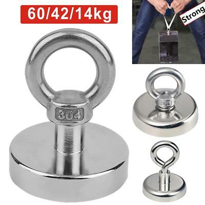 14/37/60KG Recovery Magnet Very Strong Sea Fishing Diving Treasure Hunting UK