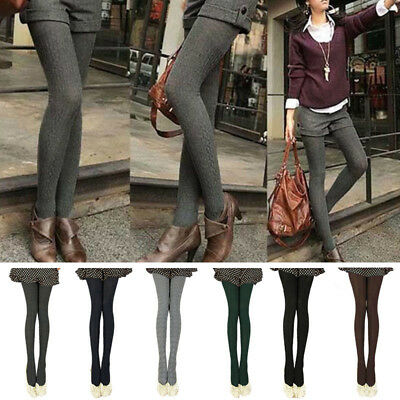 Women Tights Knit Winter Pantyhose Tights Warm Stockings Thick Footed Cotton New