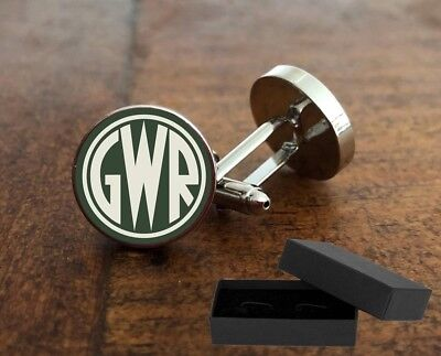 Gwr - Great Western Railway - Cufflinks - 3D Glass Lens - Train Enthusiast Gift