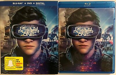 Ready Player One Blu Ray Dvd 2 Disc Set + Slipcover Sleeve Free World Wdie Ship