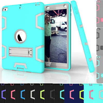 Shockproof Rugged Defender Case with Stand For iPad 9.7 Inch 2018 6th Generation