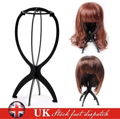 Black Wig Display Stand Mannequin Dummy Head Hat Cap Hair Holder Storage Folding