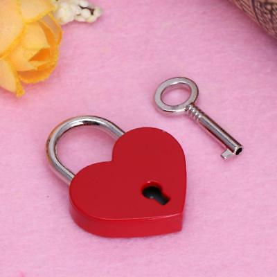 Large Heart Shape Padlock with Key Closet Security Shackle Lock-Set
