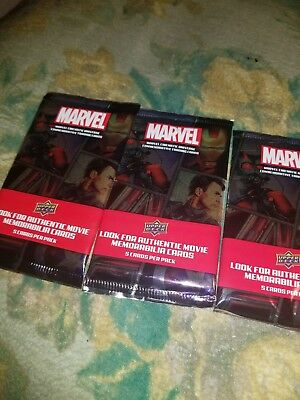Marvel MCU Trading/Memorabilia Cards Price for 3 pack 5 CARDS PER PACK