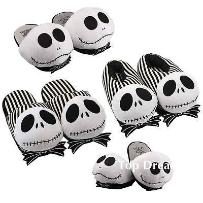 The Nightmare Before Christmas Jack Skellington Plush Slipper Winter Warm Shoes