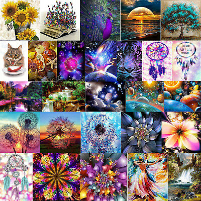 Full Drill 5D DIY Diamond Painting Embroidery Cross Craft Stitch Home Decor+Tool