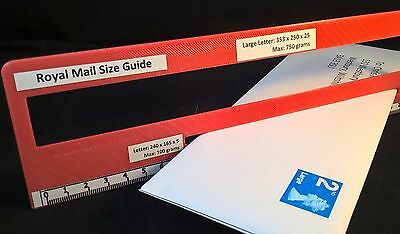 Royal Mail PPI Letter Size Guide Post Office Postal Price Postage Ruler Template