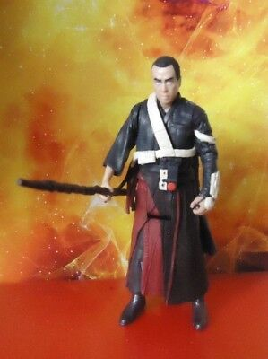 """Star Wars Rogue One The Force Awakens 3.75"""" Action Figure Chirrut Imwe New Loose"""