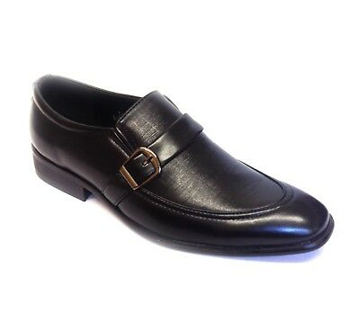 Mens Leather Shoes Casual Smart Office Wedding Work Formal Party Slip On Shoes