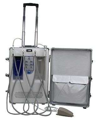 Dental Portable Unit Air Compressor Suction Machine 3-Ways Syringe Delivery Cart