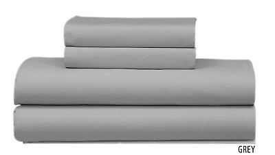 100% Cotton Grey Single/Queen/King Fitted Sheet With Pillowcases Au Seller