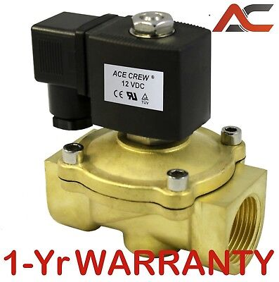 1 inch 12VDC NC Brass Electric Solenoid Valve NPT Gas Water Air Normally Closed