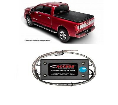 """UnderCover 5'6"""" Magnetic Bed Cover & Access 18"""" AA Battery Light for Ford F-150"""