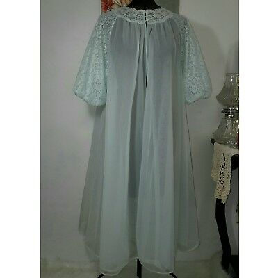 Vintage Vanity Fair 38 s/m Double Chiffon Robe Mint