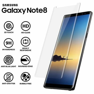 Samsung Galaxy Note 8 - 100% Genuine Tempered Glass Screen Protector - Clear 3D