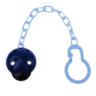 Dummy Clips Cartoon Holder Soother Pacifier Chain Boys Girls Baby Strap Blue