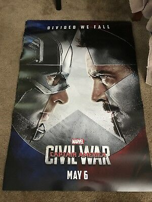 CAPTAIN AMERICA CIVIL WAR MOVIE POSTER 2 Sided ORIGINAL Advance EXL 27x40