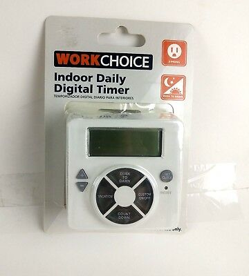 New work choice indoor 6 hour preset timer 801 picclick work choice indoor daily digital timer with 1 grounded outlet new publicscrutiny Image collections