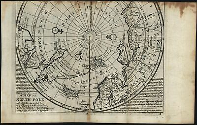 North Pole Canada rare Dublin Grierson pirate c.1735 Moll scarce old map