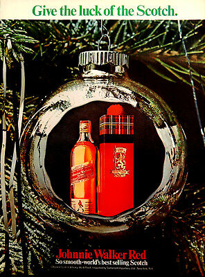 Vtg 1969 Johnnie Walker Red luck of the Scotch whisky advertisement print ad art