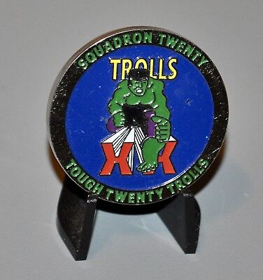 USAF Air Force Academy Cadet Squadron Twenty Tough 20 Trolls Challenge Coin