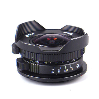 8mm F3.8 Fish-eye CCTV Lens For Micro Four Thirds Mount Camera