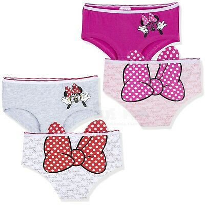 Disney Minnie Mouse Cotton 2-PACK Set Shorts Underwear Knickers briefs 3-10 Yrs