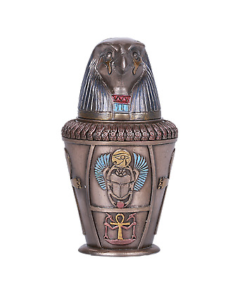Ancient Egyptian Canopic Jar Qebehsenuf Horus God Of Protection Keepsake Intesti