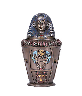 Ancient Egyptian Canopic Jar Imsety God Of Protection Keepsake Liver