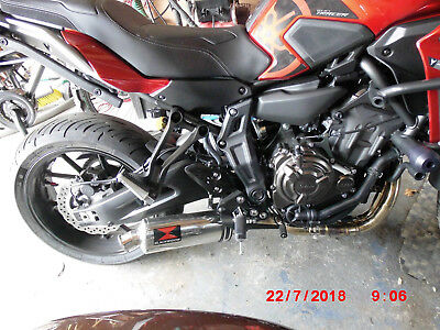 YAMAHA TRACER 700 MT07 Black Widow Complete Exhaust No Reserve