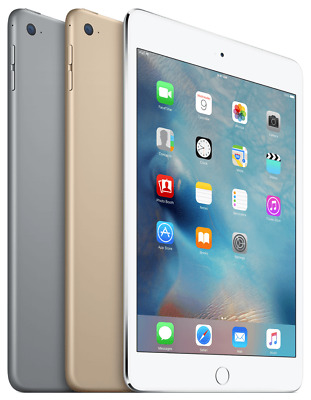 Apple iPad Mini 4th Gen 64GB Wi-Fi Tablet - Space Gray Silver Gold