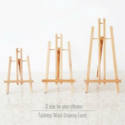 Pine Wood Easel 3 Sizes Tabletop Drawing Artist Wooden Standing Easels Painting