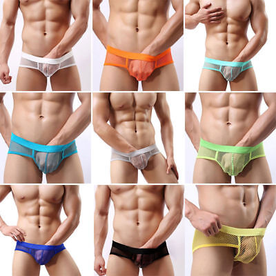 NEW Men's Sexy Transparent Spandex Fishnet Briefs - Pants Shorts Adult Underwear