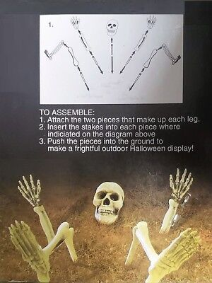 Amscan Creepy Cemetery Halloween Party Escaping Skeleton Yard Stake Decoration