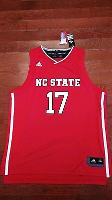 323a22a65b0a NC State Wolfpack Adidas Basketball March Madness Replica Jersey Men s XXL  RED