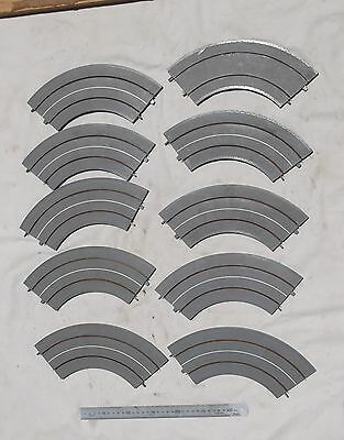 10 Pieces of Triang Minic Motorway Curved Track M1611