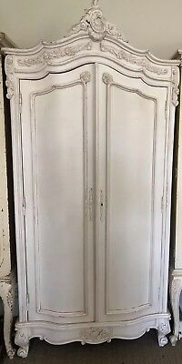 French Style Armoire Wardrobe Double Fronted