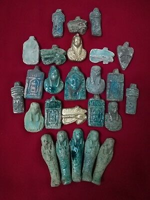 Ancient Egyptian rare 25 Amulets ( 1816 BC)