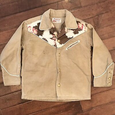 Big Top Boys 3T Toddler Vintage 50s Western Flannel Cowboy Shirt