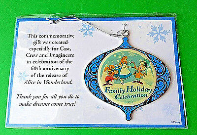 Alice In Wonderland Ornament DISNEY Christmas Cast Member Exclusive Theme Park